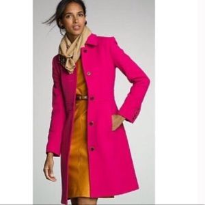 Like new j.crew ladyday coat in berry pink